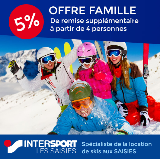 location ski intersport les saisies